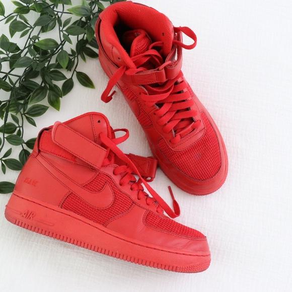 Nike Shoes Custom Air Force 1 Red High Top Sneakers Poshmark